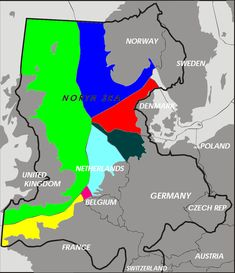 Exclusive economic zones for the north sea