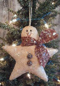 Snowman star...how about using white felt instead of burlap. I know this is supposed to be a country decoration, but snowmen need to be white!!!
