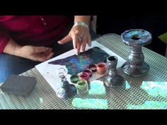 Watch as syndee holt uses this faux raku technique to transform inexpensive pieces of glassware into a dramatic one-of-a-kind raku candle stick holders! ~ Polymer Clay Tutorials