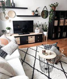 LACK white stained oak effect, Wall shelf unit, cm - IKEA Ikea Living Room, Boho Living Room, Dining Living Room Combo, Living Room Wall Decor, Dining Rooms, Apartment Living, Living Room Decor Ideas Apartment, Living Room Decorating Ideas, Living Room Inspiration