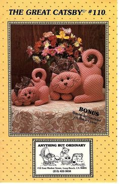 The Great Catsby~ Cat and Bunny Uncut Sewing Patterns