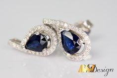 Na zamówienie - BM Design Sapphire, Earrings, Jewelry, Design, Fashion, Ear Rings, Moda, Stud Earrings, Jewlery