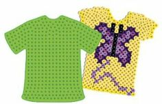 T-shirt Pegboard for Perler Fuse Beads by Dimentions. $3.89. Designed for use with Perler Beads. Pegboards can be reused. Ages 5 and up. Great for older kids too. Fuse beads together with a household iron. These Pegboards in assorted colors are designed for use with Perler Beads. Simply place beads on the Pegboard, cover with Ironing Paper, then fuse beads together with a household iron. Once beads are fused together, Pegboards can be reused. Ages 5 and up