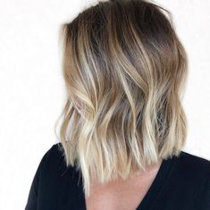 Hot Shot Warm Balayage Finalists 2019 - Behindthechair com Brown To Blonde Balayage, Hair Color Balayage, Hair Highlights, Balayage On Short Hair, Ombre On Short Hair, Balyage Bob, Short Hair Colour, Brown Bob With Highlights, Colored Short Hair