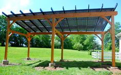 Solar Pergola - traditional - patio - philadelphia - Hugh Lofting Timber Framing, Inc.