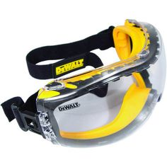The DEWALT Concealer goggle is a dual mold goggle that protects from dust and debris. DEWALT ToughCoat hard coated lens provides tough protection against scratches. DEWALT XtraClear anti-fog lens coating provides tough protection against fogging. Garage Atelier, Dewalt Tools, Kreg Tools, Welding Tools, Goggles Glasses, Eye Glasses, Miter Saw, Eye Protection, Family Protection