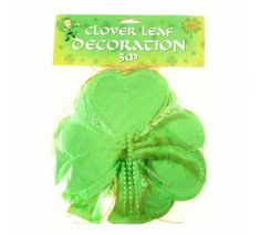 Glossy Clover Leaf Decoration (3 Metres) Leaf Decoration, Decorations, St Patricks Day, Flags, Dekoration, National Flag, Ornaments, Decor, Decoration