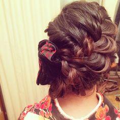 「【長さ別】2015年成人式にむけて♡最新トレンド振袖ヘアスタイル」に含まれるinstagramの画像|MERY [メリー]