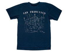 Maptote | San Francisco Adult Tee Navy