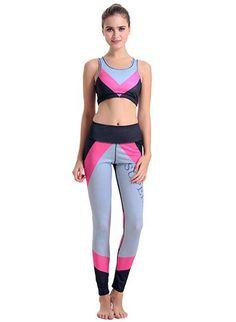 e9bdc6a7e9 Print Fitness Women Set Sports Yoga Set For Gym Running Sportwear Suit