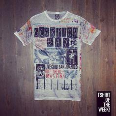 """Tessuto trattato e stampa """"Live Club San Juanico"""" per la #TshirtOfTheWeek di oggi, che ne dite? Acquistala subito in blu >> http://www.scorpionbay.com/it/store/uomo/t_shirt-e-polo/t_shirt-97280"""
