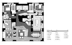 floor plan blueprint Modern-Central-Park-West-Penthouse-Duplex-in-Manhattan-New-York-by-Gwathmey-Siegel-Associates-homesthetics-modern-mansion