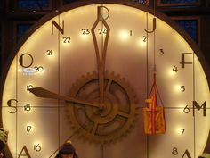 Santa's workshop clock | This photo shows the large clock in… | Flickr