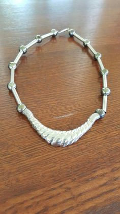 Vintage silvertone Beaded Choker Necklace ~ Vintage Jewelry ~ Beaded Jewelry ~ Vintage Beaded Jewelry by In2vintagejewelry2 on Etsy