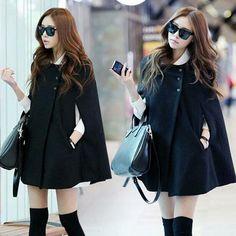 Korea fashion cape coat