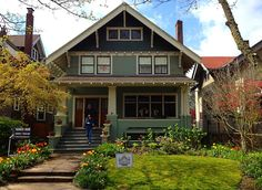 Green American Bungalow (cedar shake shingles, clapboard siding, knee braces, corbels and muntins, Oh My!)