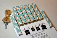 Clothespin Clothesline Photo Hanging Kit Teal by owlpaperscissors, $12.00