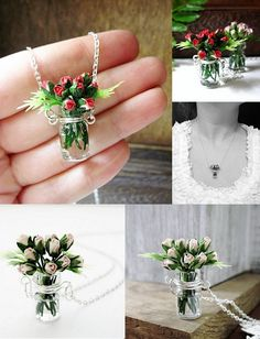 Rose bouquet necklace ♥