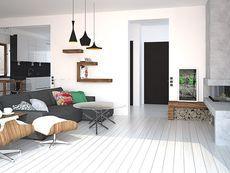 DOM.PL™ - Projekt domu HG-C1A CE - DOM AL1-60 - gotowy koszt budowy Home Design Plans, House Design, Contemporary, Home Decor, Style, Decoration Home, Room Decor, Architecture Design, Home Interior Design
