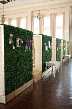Set of 5 boxwood hedge walls
