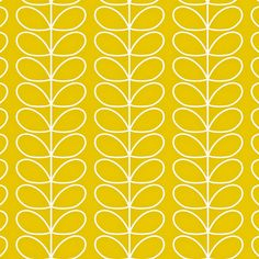 Orla Kiely: Orla Kiely Linear Stem print wallpaper, available in two colourways. Hanging instructions on packaging.        Repeat: 4.2cm        Width: 52cm    Length: 10.05m        Batch: Poppy #AA               Mimosa #AA                   **Please note that wallpaper is non refundable once opened, or hung on the wall.