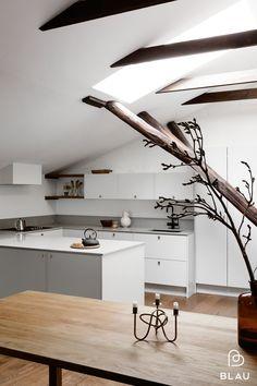 Scandinavian Modern, Kitchen, Table, Helsinki, Furniture, Home Decor, Kitchens, Blue, Cooking