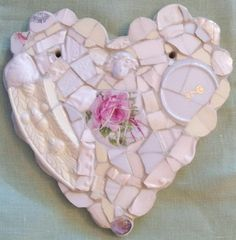 Hearts and Roses | rose heart mosaic from susanjenkinsart