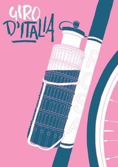 Giro d'Italia Art Print #poster
