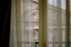 through curtains