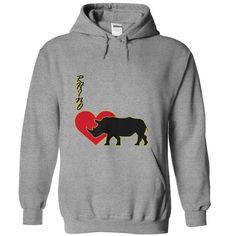 (Top Tshirt Charts) Heart Rhinoceros [TShirt 2016] Hoodies, Tee Shirts