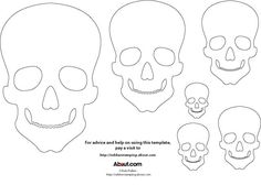 This Skull Template is Perfect for Your Halloween and Day of the Dead Crafts: Skull Template for Halloween Craft Projects