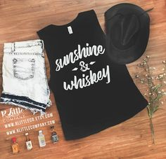 Sunshine and Whiskey Women's Festival Tank XS-4X // Country Concert Tank // Stagecoach // Country Thunder