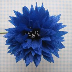 Wonderful Crepe Paper Flowers tutorial, part 2 by Martha at Q is for Quilter
