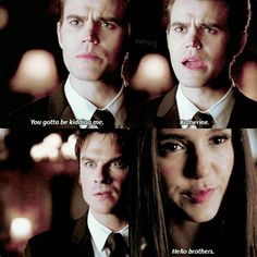 "#TVD 8x16 ""I Was Feeling Epic"" - Stefan, Damon and Katherine"