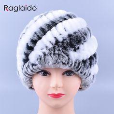 0bc97e55ac4 Raglaido Rabbit Fur Hats for Women Real Rex Fur Caps Fashion Winter  Skullies Beanies LQ11169