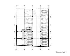 Residential Building in Vase Stajića Street,Basement Floor Plan