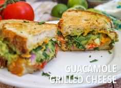 Guacamole Grilled Cheese! Yes Please! Recipe from Jerry James Stone.