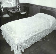 Crochet elegant bedspread ♥LCB-MRS♥ with diagram.