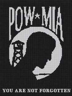 POW-MIA CROCHET PATTERN AFGHAN GRAPH #711