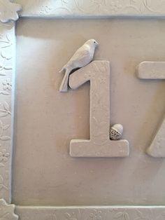 Door Numbers, House Numbers, Pottery Houses, Garden Studio, Pottery Studio, Door Signs, Buttercup, Ceramic Pottery, Stoneware