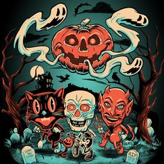 Beistle® Halloween Night Ladies' Tee - Creepy Co.