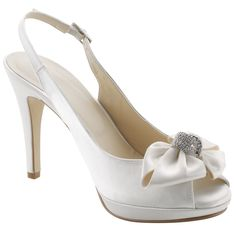 Buy John Lewis Occasion Dukes Satin Bow Trim Court Shoes online at John Lewis