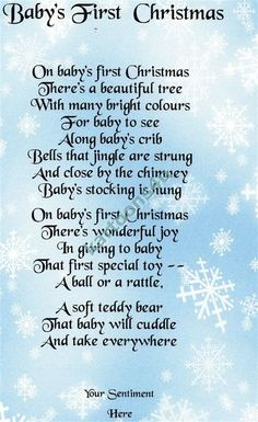babys first christmas sentiment | Baby s First Christmas - 3 - Personalised Poem