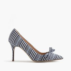"""Our Elsie pumps really make an impression—especially in classic plaid. With a just-right height and a perfectly pointed toe, they're classic and special at the same time. The fact that this pair is made in Italy is just the icing on the cake. <ul><li>3 5/8"""" heel.</li><li>Cotton upper.</li><li>Leather lining.</li><li>Made in Italy.</li><li>Online only.</li></ul>"""
