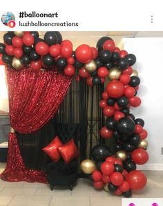 Blessed totaled quinceanera party planning navigate to this site Black Party Decorations, Decoration Evenementielle, Prom Decor, Birthday Party Decorations, Balloon Decorations, Burlesque Party Decorations, Burlesque Theme Party, Red Party Themes, Prom Themes
