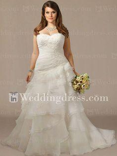 Vintage+Organza+Plus+Size+Wedding+Dress+PS107