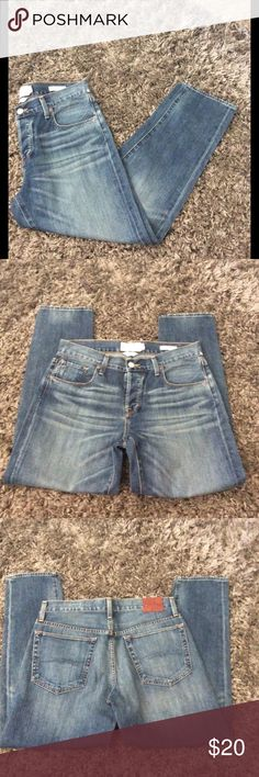 "Lucky Brand Dylan Boyfriend size 4 Lucky brand Dylan boyfriend size 4 jeans. 27"" inseam.  More of a Capri Lucky Brand Jeans Ankle & Cropped"