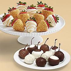 10 Sweet Cherries & 12 Champagne Strawberries