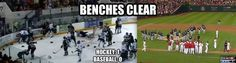 Clear the benches!
