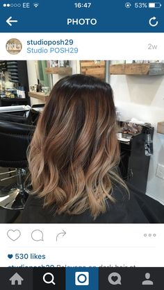 This is one of the best balayage hair colours I've seen, love the tones of sandy…